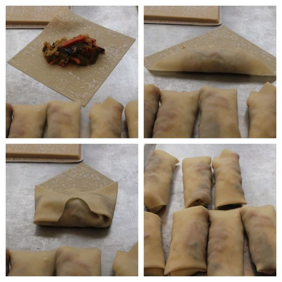 how to form a spring roll