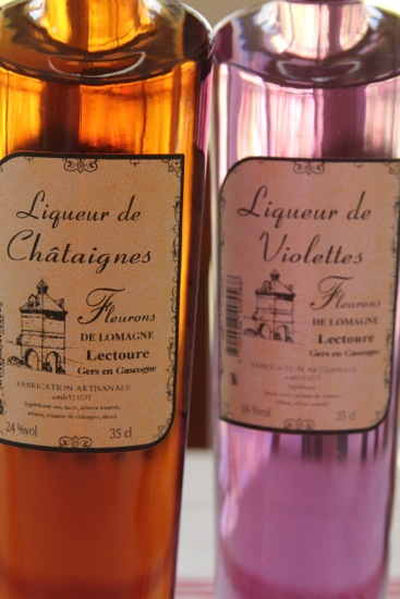 chestnut and violette liqueurs