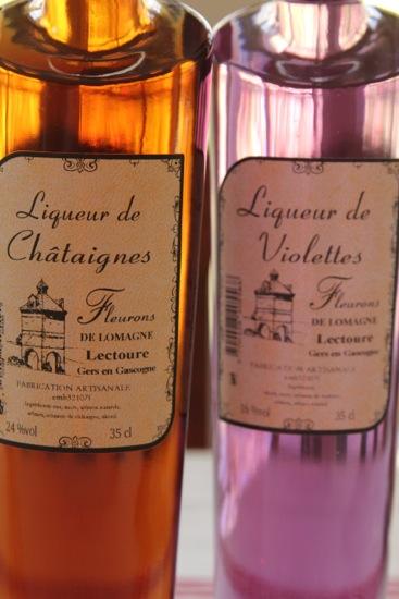 chestnut and violette liqueurs