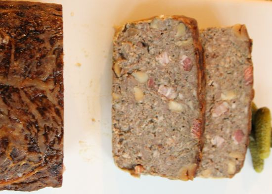 pate with hazelnuts and bacon