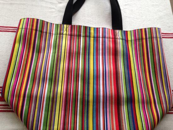 typical basque stripe bag