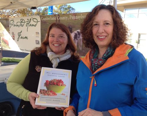 With Sandra Miller of Painted Hand Farm at the Bethesda Central Farm Market