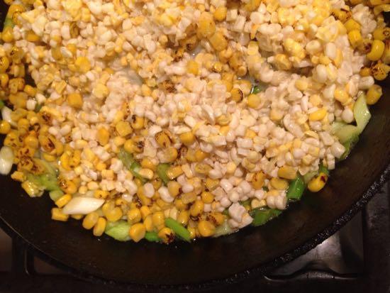 frying corn